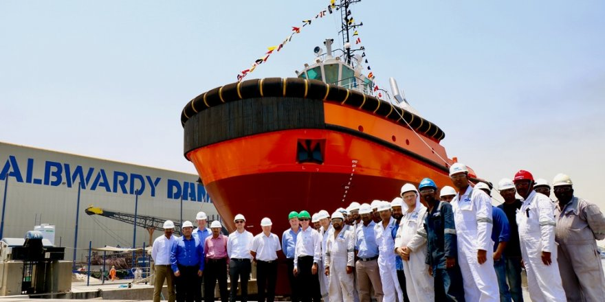Damen ASD Tug 2913 for new deep-water bulk terminal at Saqr Port launched by Albwardy Damen, UAE