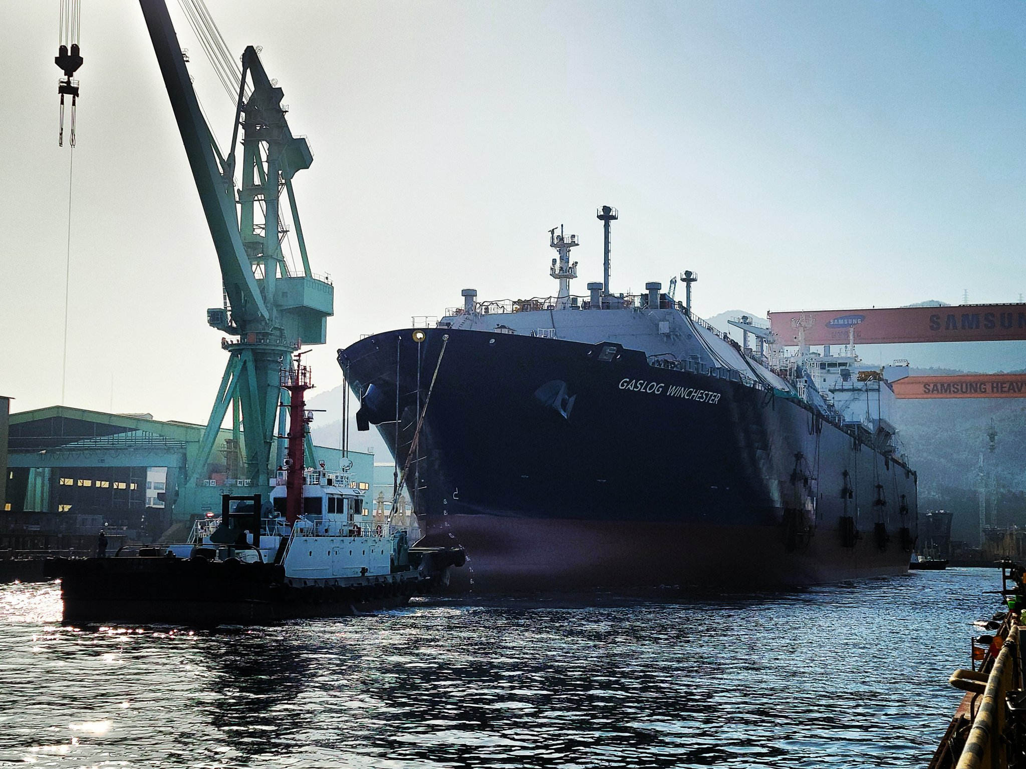 Samsung Heavy launches GasLog's LNG carrier newbuild