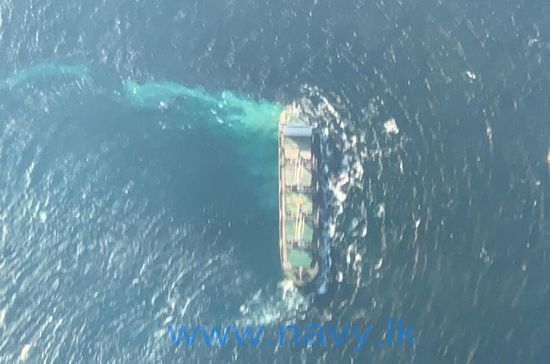 Liberia-flagged bulk carrier runs aground on a reef off Sri Lanka