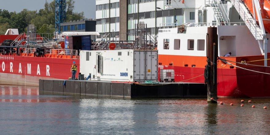 Damen's InvaSave supplies clean D2 standard ballast water for newbuild vessel Inland Coastal Tanker Elena H