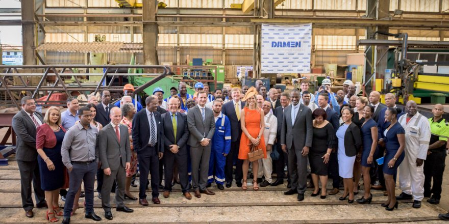 Damen Shiprepair Curaçao welcomes royal visit