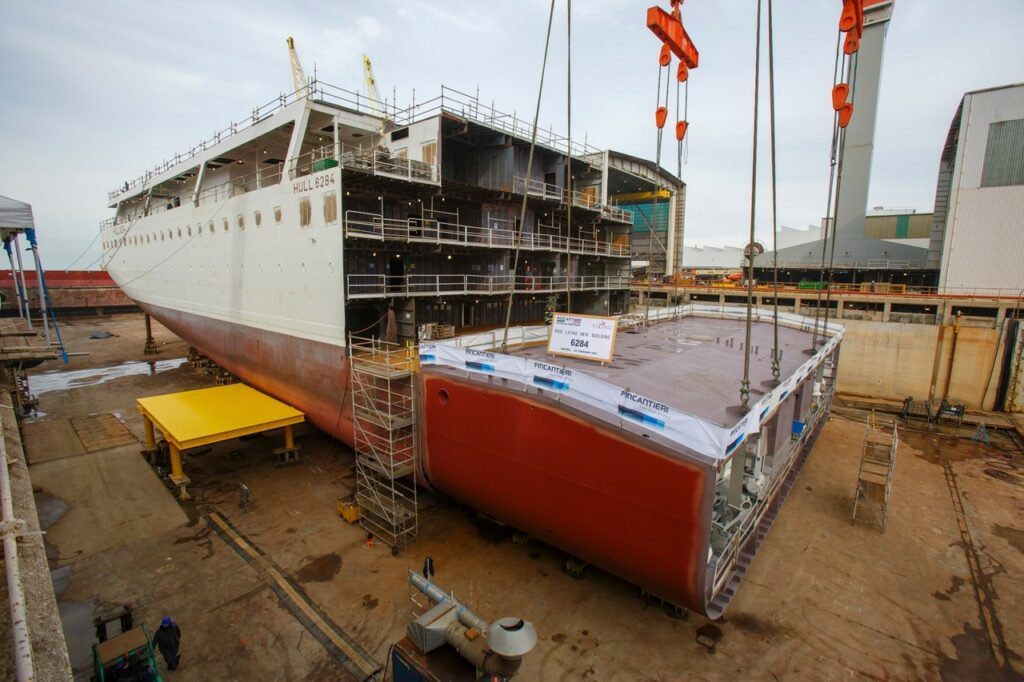 Fincantieri hosts keel laying for eighth ocean cruise ship of Viking