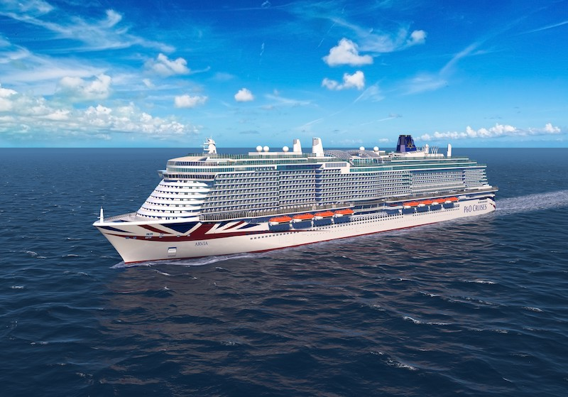 P&O Cruises reveals name of its second LNG-powered vessel
