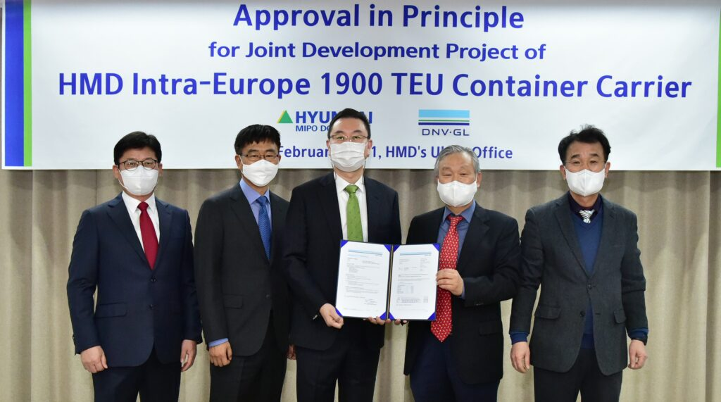 DNV awards approval in principle to Hyundai Mipo for its new container ships