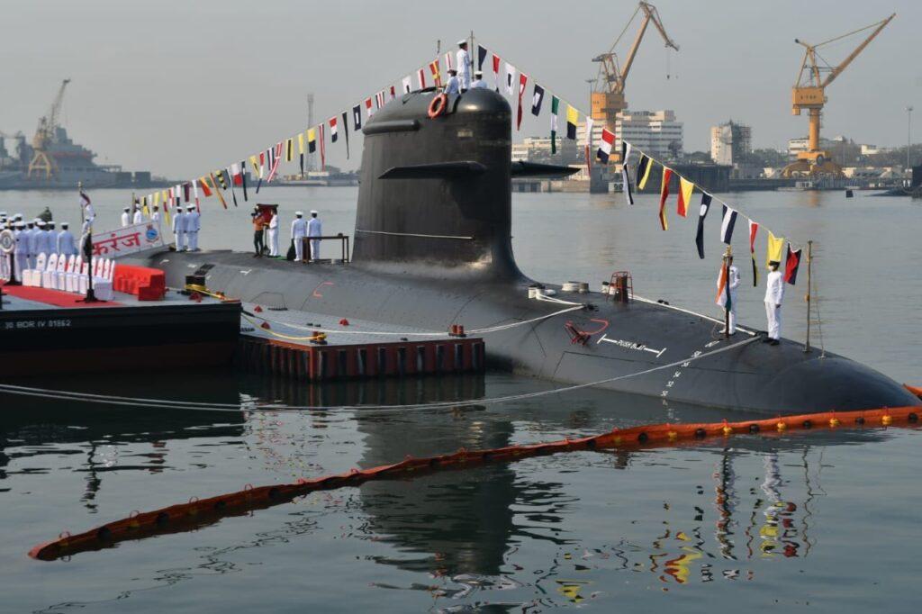 Indian Navy commissions third Scorpene-class submarine INS Karanj