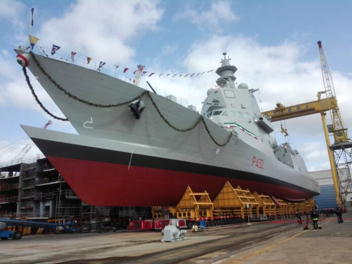 Italian Shipbuilder Fincantieri launches 3rd multipurpose offshore patrol ship