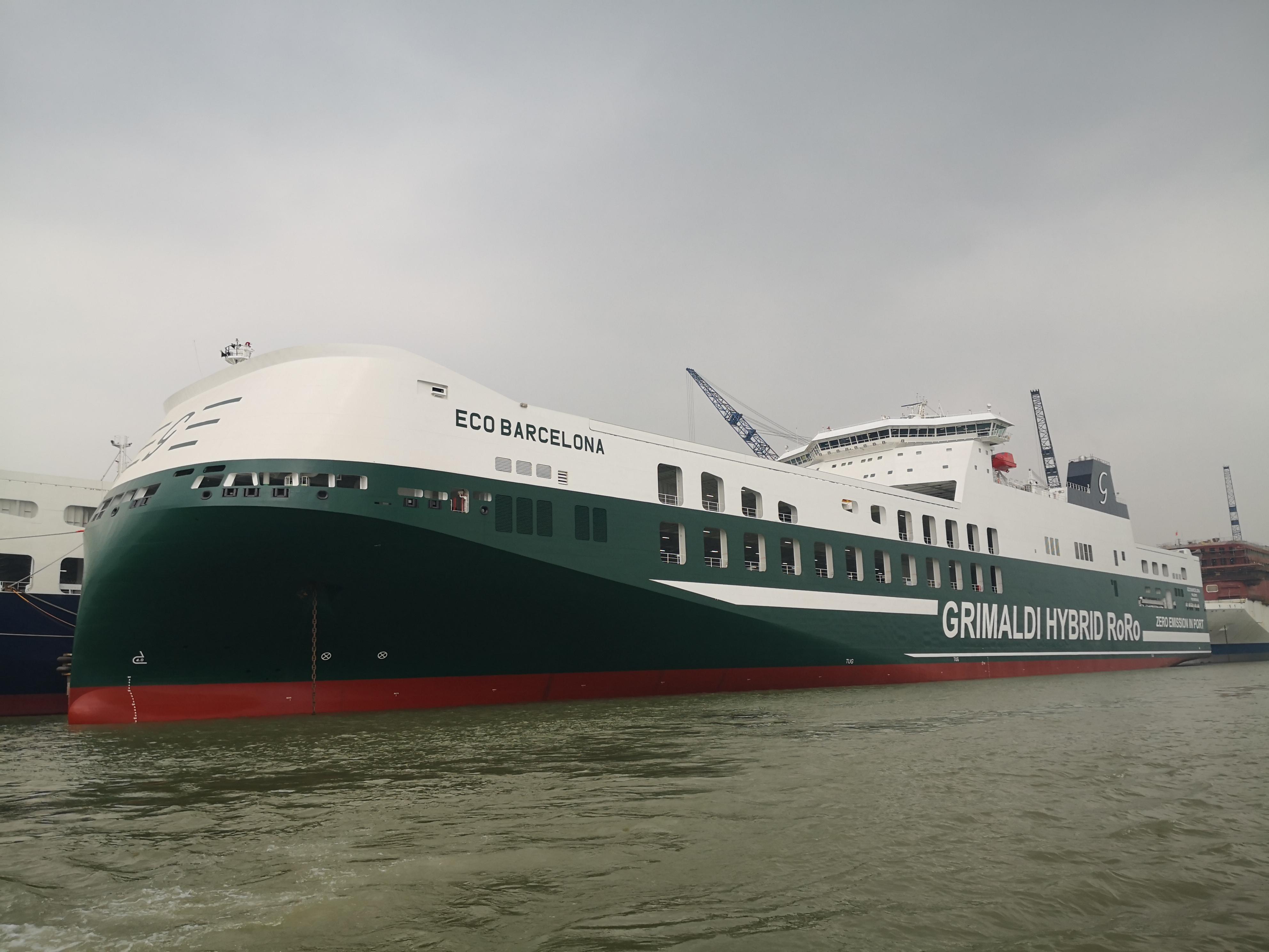 Grimaldi receives its 4th giant hybrid Ro-Ro ship