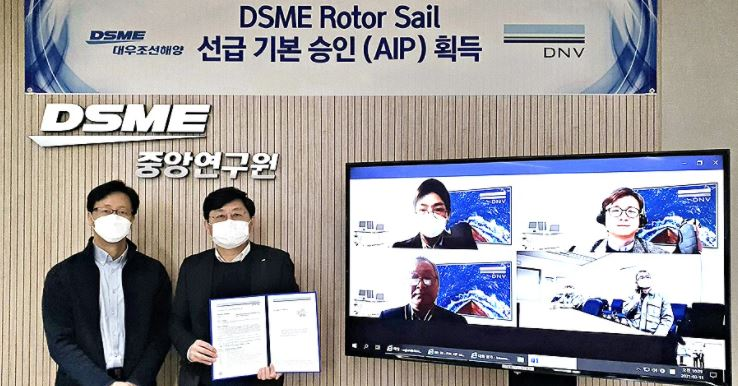Daewoo receives approval in principle for its rotor sail system