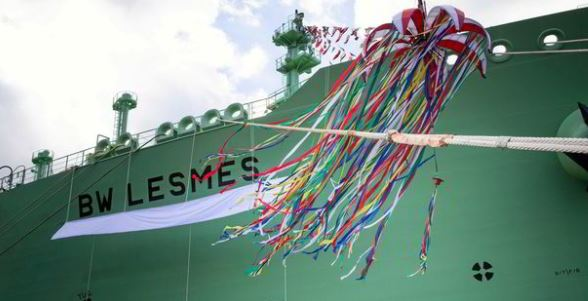 Singapore-based gas shipping giant BW Group receives delivery of BW Lesmes