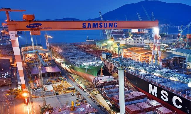 Samsung Heavy receives $2.5 billion deal from Evergreen