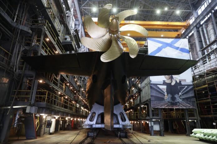 Russian Admiralty Shipyards launches submarine 'Magadan' for Pacific Fleet