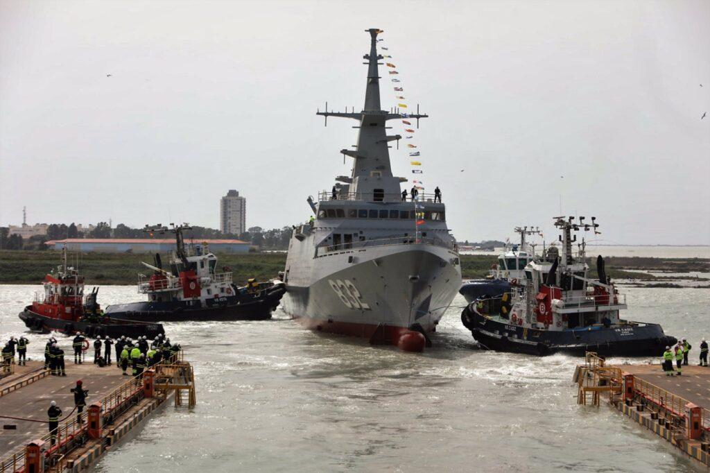Navantia launches third of the five corvettes built for Royal Saudi Naval Forces