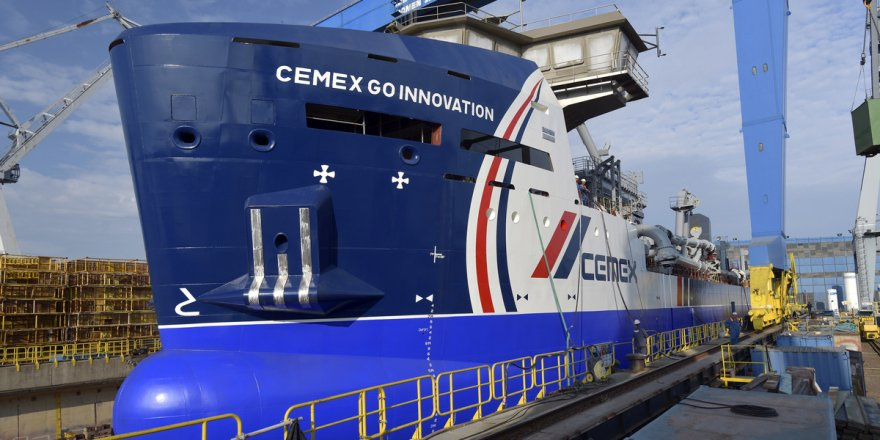 First Damen MAD3500 aggregates dredger launched at Damen Shipyards Galati