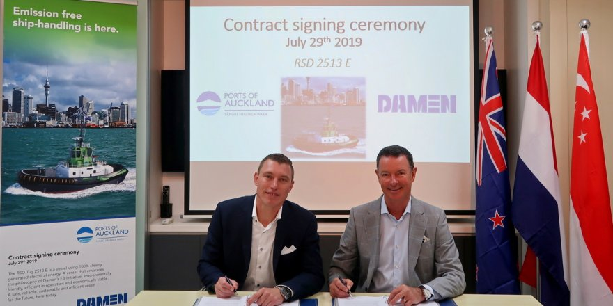 Damen signs contract with Ports of Auckland for  fully electric RSD-E Tug 2513