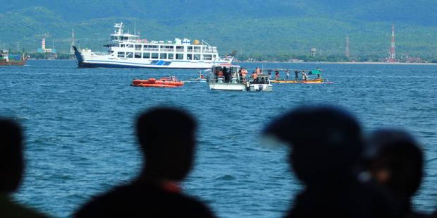 Passenger ferry stranded on Bali Strait