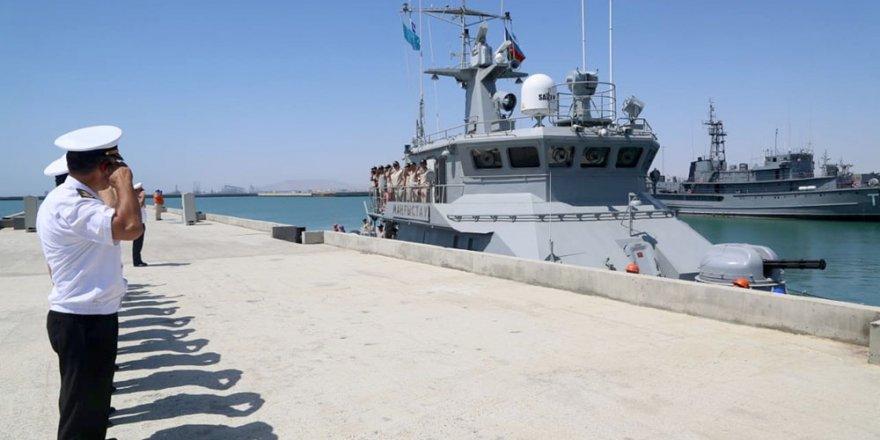 Kazakh warship left Baku Port of Azerbaijan