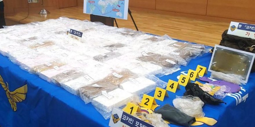 $250 million of cocaine found in a bulk carrier at Taean port