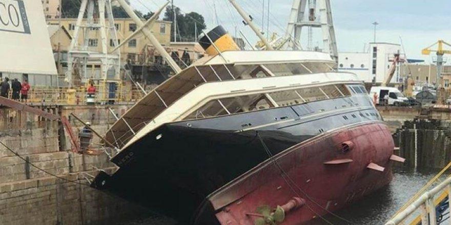 Superyacht Nero Overturns in Genova, Italy
