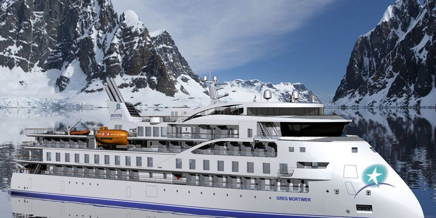 Chinese polar expedition cruise sailing away