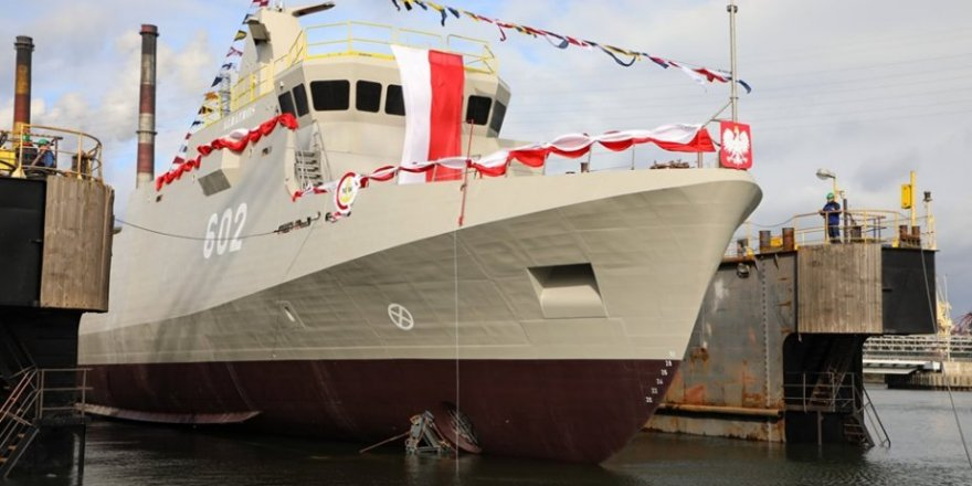 "Poland launched ""Albatros"" Minehunter"