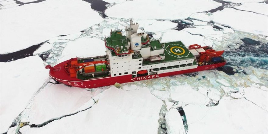 China's polar icebreaker arrives in Antarctica
