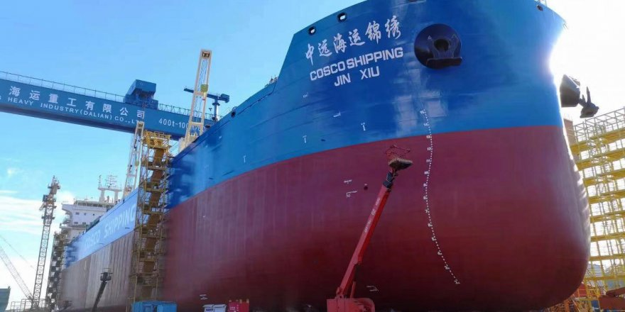 COSCO specified a water lubricated propeller shaft arrangement