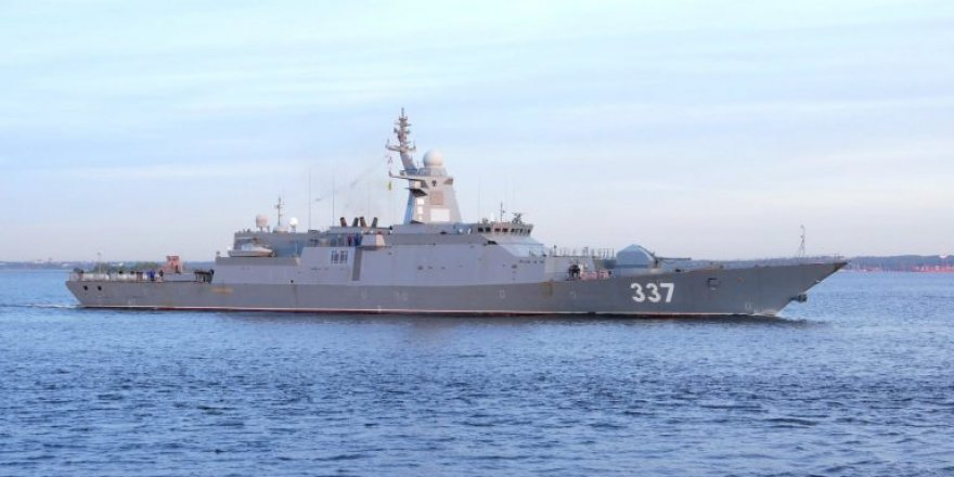 Russian Gremyashchiy Class Corvette entered the White Sea for state trials