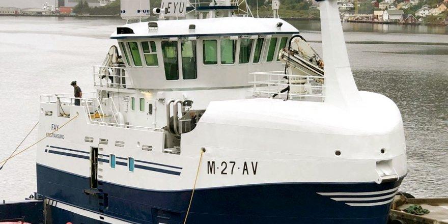 Norwegian-flagged fishing vessel sank  in Honningsvag