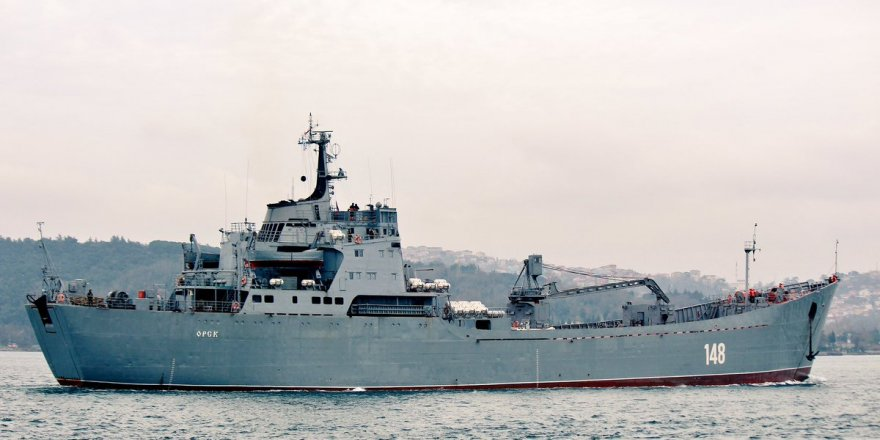 The Russian ship carrying military supplies disabled in Syria