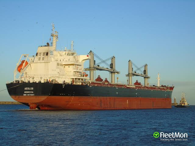 Cargo ship carrying iron disabled in Aegean Sea
