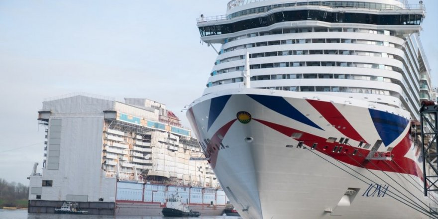 New P&O Iona has left the building at Meyer Werft