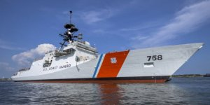 US Coast Guard and HII christened USCGC Stone