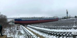 Krasnoye Sormovo shipyard launches a new dry cargo carrier