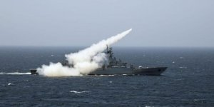 Pakistan Navy made a firing drill in the North Arabian Sea