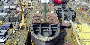 Korean Shipbuilders work on eco-friendly ships