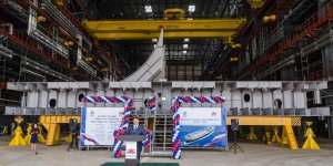 Zvezda Shipyard lays down fifth Aframax tanker