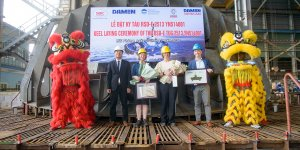 Damen held keel-laying ceremony for Port of Auckland's new tug