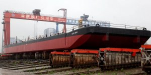 Four barges launched for Canada's Marine Transportation Services