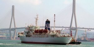 Retired maritime training ship leaves Busan for its new mission