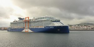 Celebrity Cruises' new vessel makes technical call at Ponta Delgada