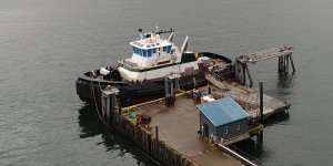 Nichols Brothers Boat Builders launches tug for foss