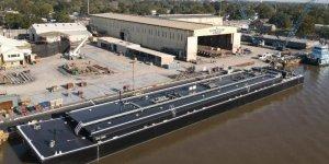 Parker Towing receives asphalt barges from Conrad Shipyard