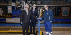 Russia's Zvezda Shipbuilding cuts the steel for the lead Arctic LNG 2 tanker