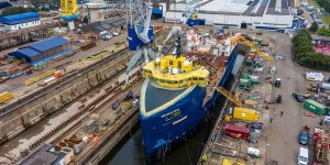 Damen converts platform supply vessel into fish feed carrier