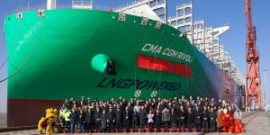 Hudong-Zhonghua holds naming ceremony for CMA CGM Rivoli