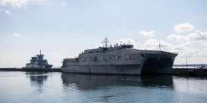 US naval ship docks in Sudan for security of Red Sea