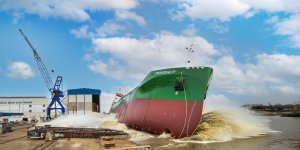 Ferus Smit launches latest LNG-fueled chemical tanker of Thun Tankers