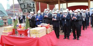 CSBC and DEME Offshore hold keel laying ceremony for Green Jade