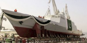 Pakistan Navy launched fast attack craft from Karachi Shipyard