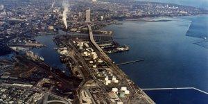 Port of Milwaukee roads flooded